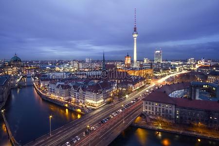 skyline berlino in hdr