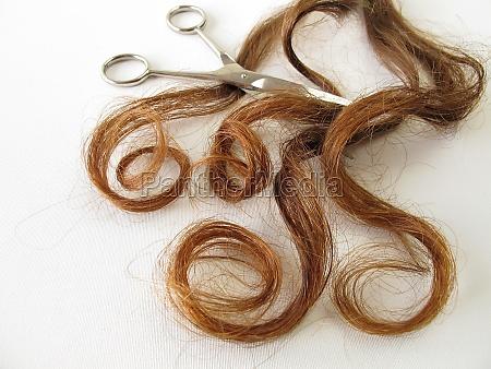 castano riccioli capelli rosso