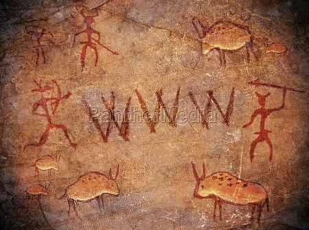 mondo preistorico vernice grotta wide web