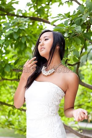 donna ritratto asiatico perfetto cinese modello