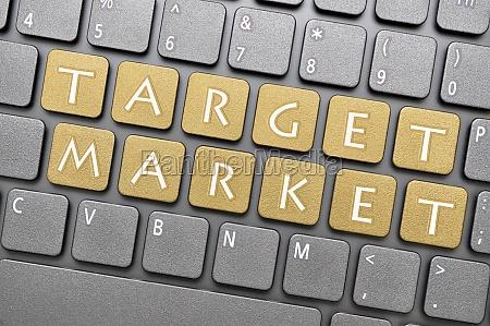 mercado alvo no teclado