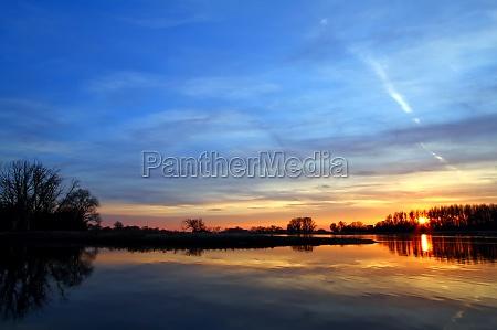 ambiente tramonto sassonia elba paesaggio natura