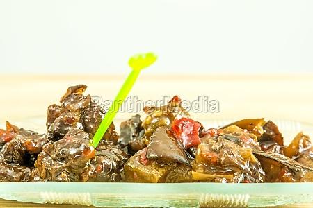 asiatico verdura russo vegetariano antipasto melanzane