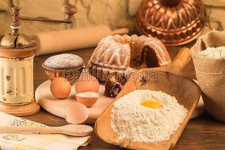 cibo cucina torta torte farina still