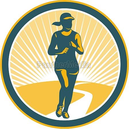 donna grafica femminile illustrazione jogging esercizio