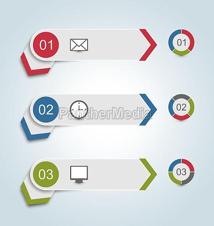 impostare etichette di carta con icone