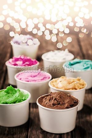 gelato italiano colorato per unoccasione di