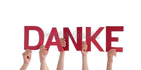 la gente tiene rosso danke