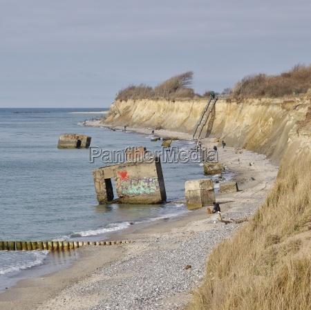 the cliff between wustrow and ahrenshoop