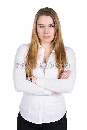 donna serieta camicetta commesso dipendente impiegato