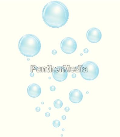 blu bolle bolla sapone vettore insaponare