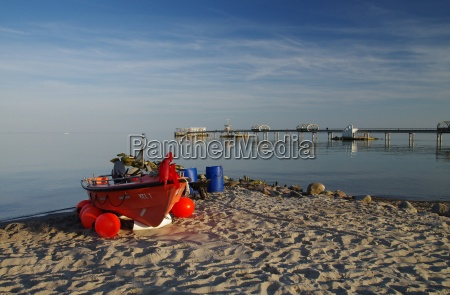 fishing boat on the beach of