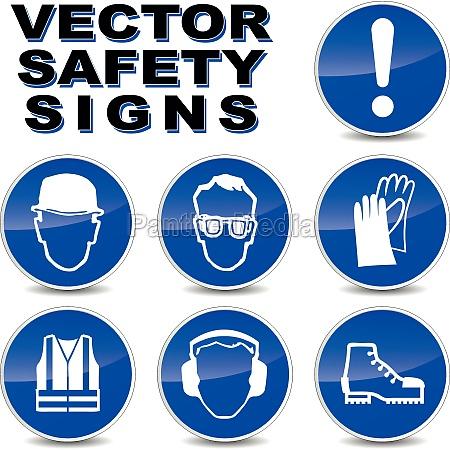 segnaletica di sicurezza vector