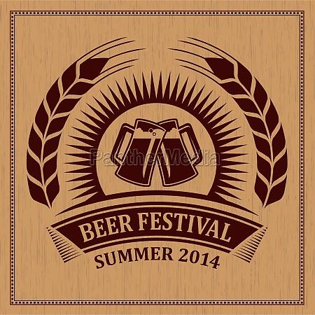 beer festival icona simbolo disegno
