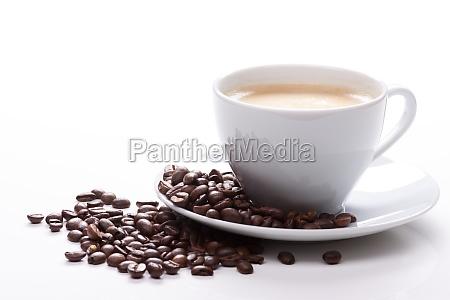 tazza di caffe e fagioli