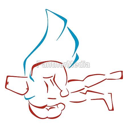 forte eroe logo grande supereroe uomo