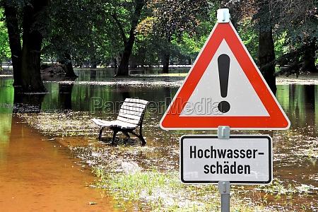 segnale parco inondazione alta marea inondazioni