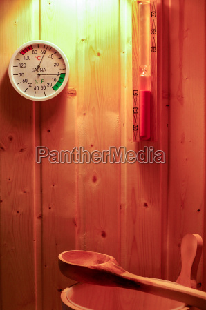 relax calore recupero temperatura termometro sauna