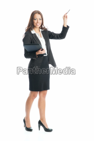businesswoman holding a presentation