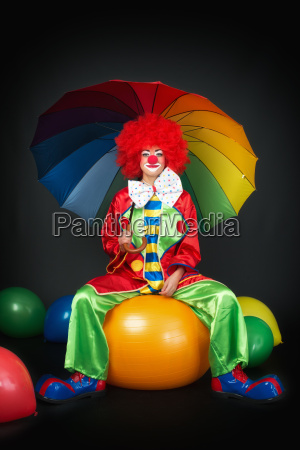 waiting clown on ball seat
