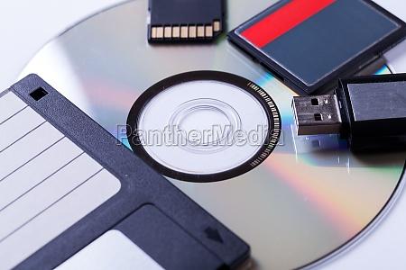 vari supporti di memorizzazione usb cd