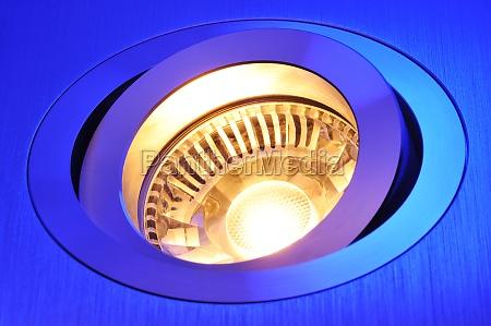 blu lume corpo luminoso lampada semiconduttori
