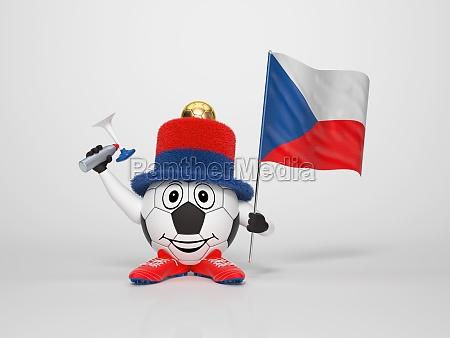 repubblica nazione portafortuna ceco supporter fan