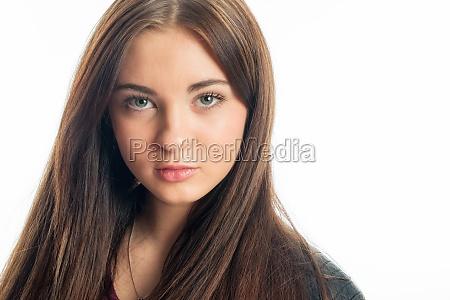marrone faccia ritratto brunetta ragazza ragazze