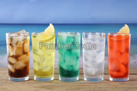 bicchiere bevande bere freddo colorato riva