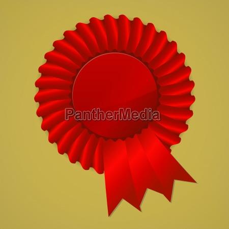 illustrazione premio onorario nastri vettore vincente