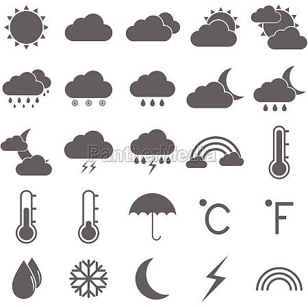 icone del tempo su sfondo bianco