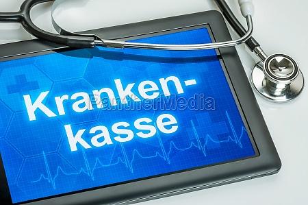 tablet con la cassa malati di