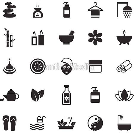 illustrazione raccolta collezione vettore icone terme