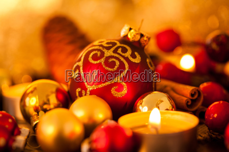 warm gold and orange christmas decoration