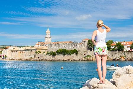 citta di krk mediterraneo croazia europa