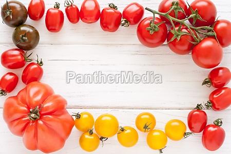 colorato visione dallalto pomodorini pomodori rosso