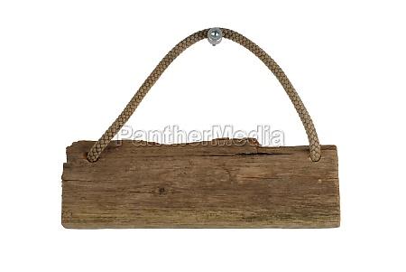 un isolato vecchia tavola di legno