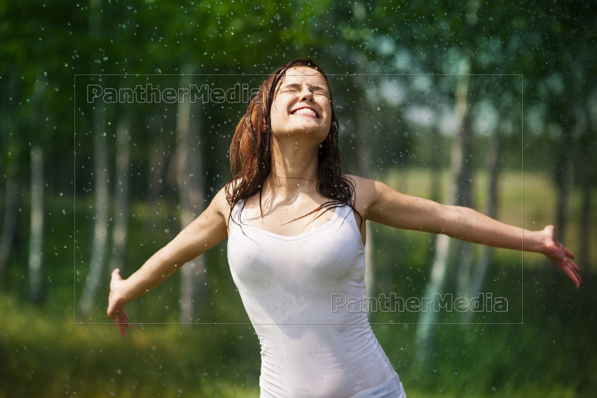 happy, young, woman, enjoying, in, nature - 12109476
