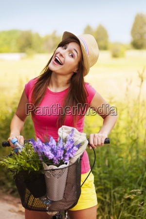 very, happy, woman, spending, time, on - 12109572