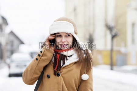 young woman talking on the phone