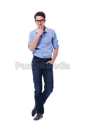 portrait of handsome pensive male
