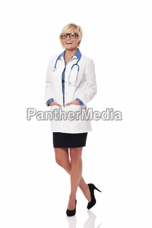 cheerful and positive female doctor