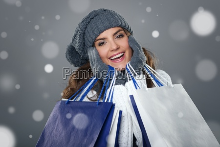 magic and successful shopping in winter