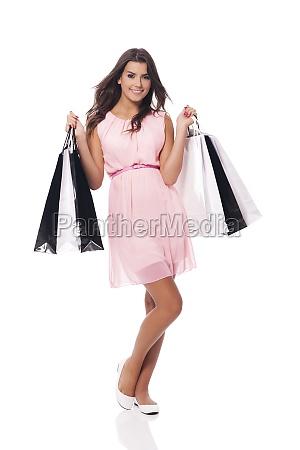 luxury shopping with beautiful woman