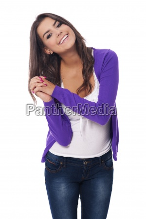 portrait, of, smiling, and, beautiful, woman - 12112912