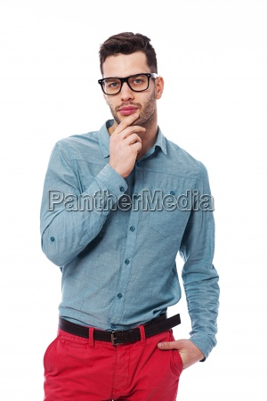 portrait of fashionable young man