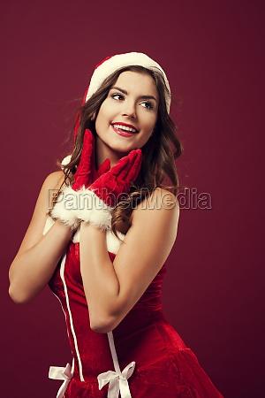 cheerful christmas woman
