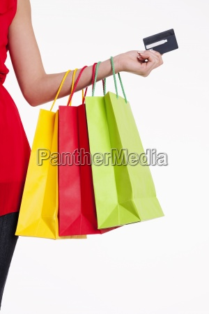 shopping bags and credit card