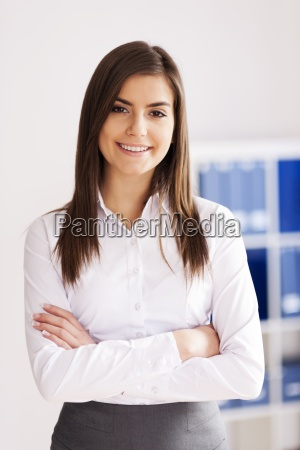 portrait of smiling young businesswoman at