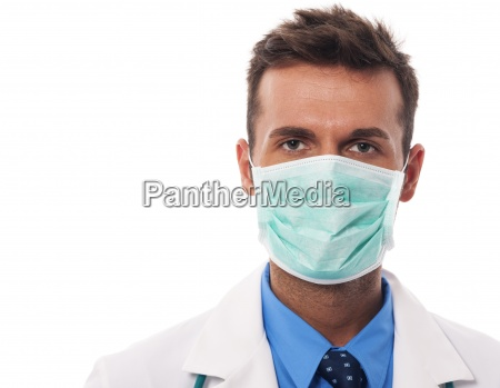portrait of male doctor wearing surgical